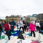Photo Gallery: Mass Blanket Exercise on Parliament Hill