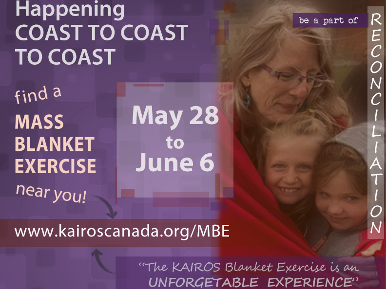 KAIROS Mass education exercises on colonialism to hit capital cities across Canada: May 28 to June 6