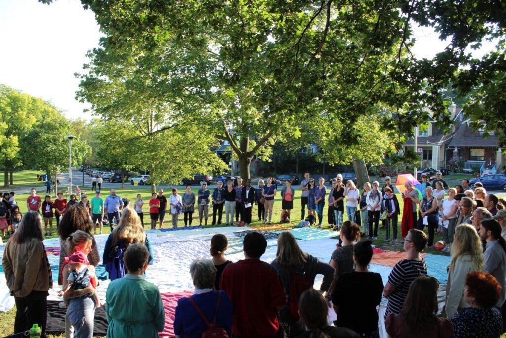 The KAIROS Kitchi Blanket Exercise on Sept. 13, 2017 at East Lynn Park. PHOTO: Josh Sherman