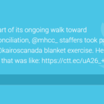 """As part of its ongoing walk toward #reconciliation, @mhcc_ staffers took part in the @kairoscanada blanket exercise. Here's what that was like: https://ctt.ec/uA26_+"