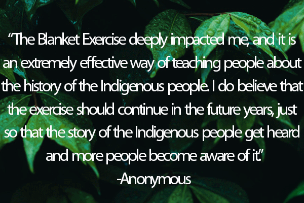 Testimonial on a leafy background